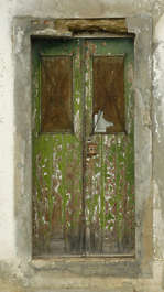door house old wood paint single