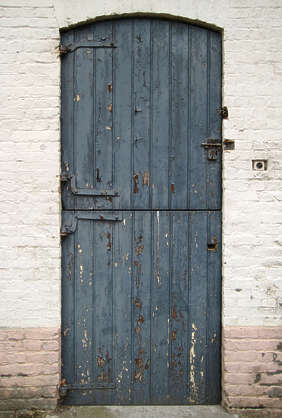 door wood old planks painted single