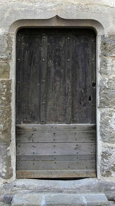 door medieval old single