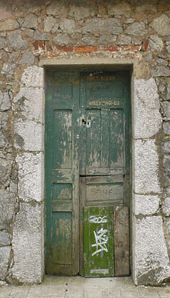 door house wood old painted single