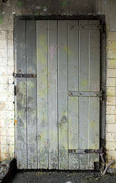 door wood planks old single