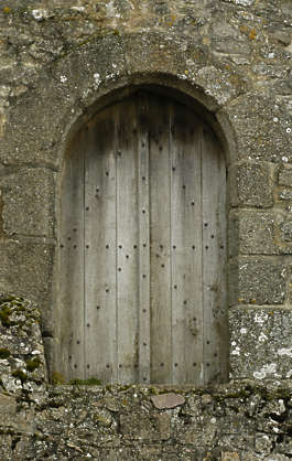 door wood castle medieval old arch single