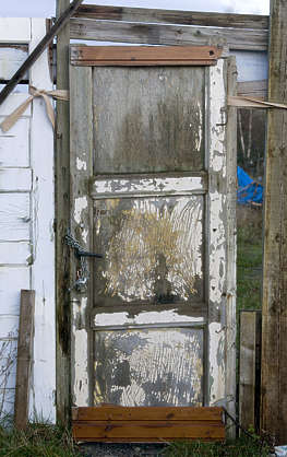 door wood old single worn