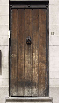 door wood old weathered planks single