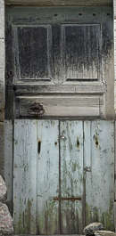 door wood repaired planks single old