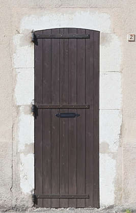 door wood single old