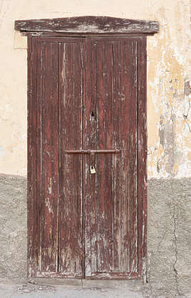 door wooden single old morocco