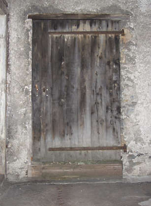 door wood weathered old planks single