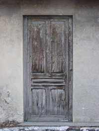 door wood old weathered single