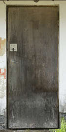 door wooden old weathered single