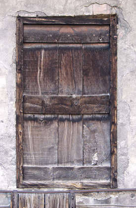 door wood old weathered dirty planks single