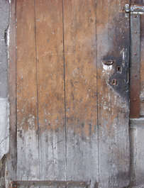 door wood old weathered dirty single