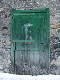 door wood painted old single