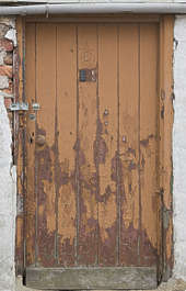 door single wooden worn UK