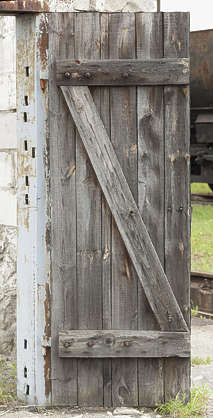 door wooden single old