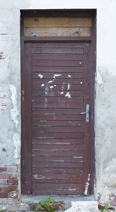 door wooden old single