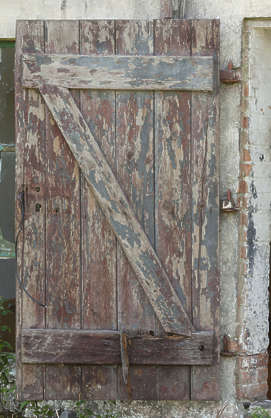 door wooden single old shed