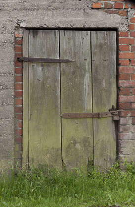door single old wooden shed