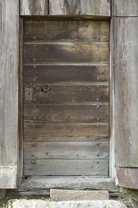 door single wooden old