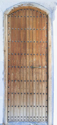 morocco door wood planks single