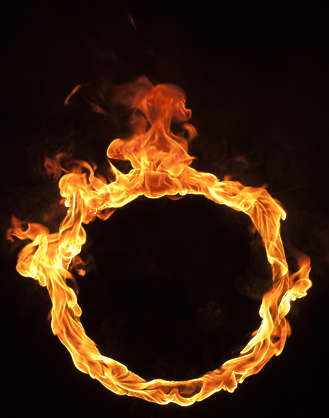 fire flame flames burning circle round