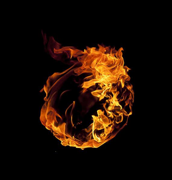 Buildings Logo Circle Fire