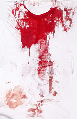 splatter blood fabric cloth bloody