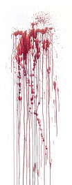 blood leaking splatter
