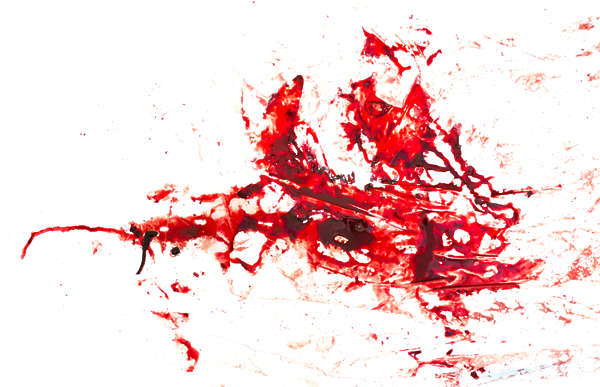splatter stain blood