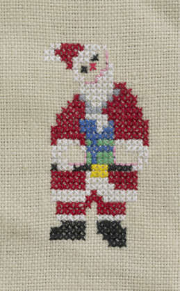 fabric santa embroidery embroidering fancywork