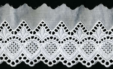 fabric lace edge border trim