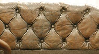 leather couch seat car old