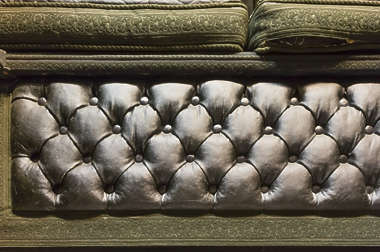 leather couch seat
