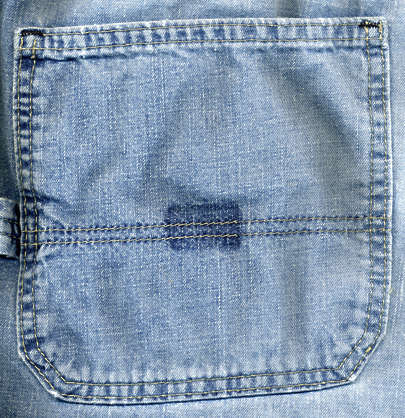 fabric seam jeans pocket