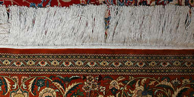 carpet persian perzian edge frill frilled frilly silk rug