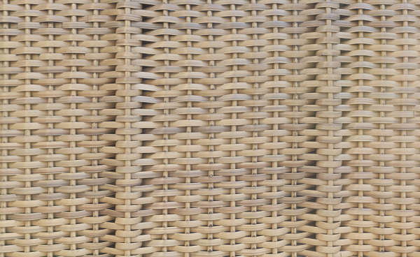 fabric rattan thatched