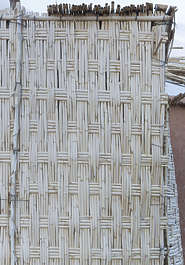 thatched thatch morocco fence wicker