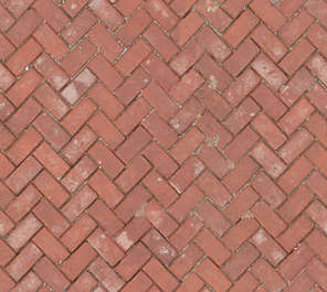 brick floor herringbone street