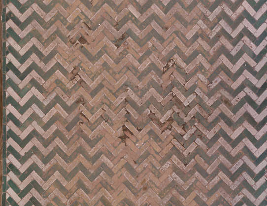 tiles floor morocco herringbone worn old glazed