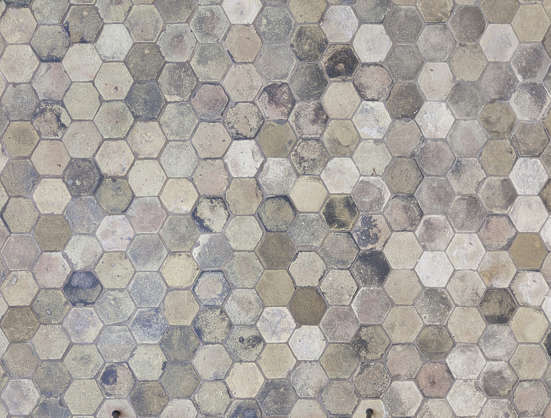 tiles brick hexagon hexagonal