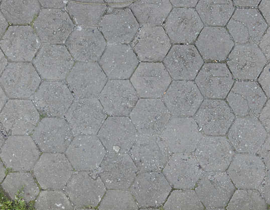 tile tiles plain ground street regular hexagon
