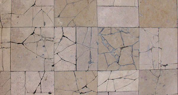 Marble Floor Tiles Ed Damaged Broken