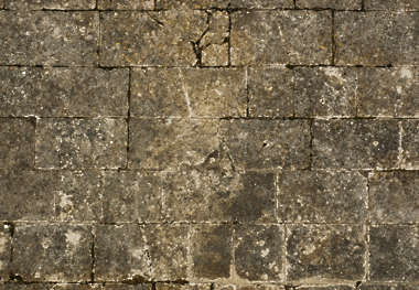 tiles brick floor mixed size medieval road street