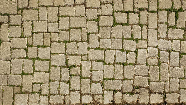 brick mixed size street pavement