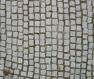 brick small floor street cobble cobblestone