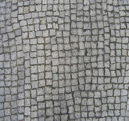brick floor street cobble cobblestones