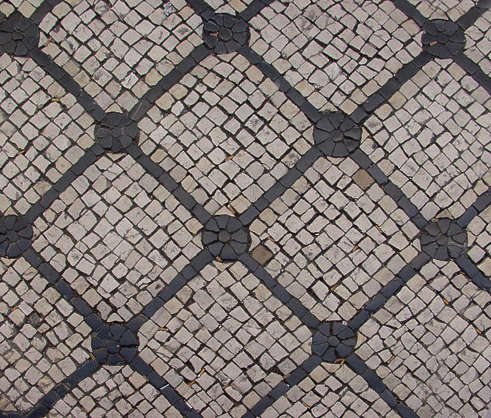 brick floor portuguese tiles mixed ornament