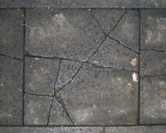 pavement tiles broken sidewalk