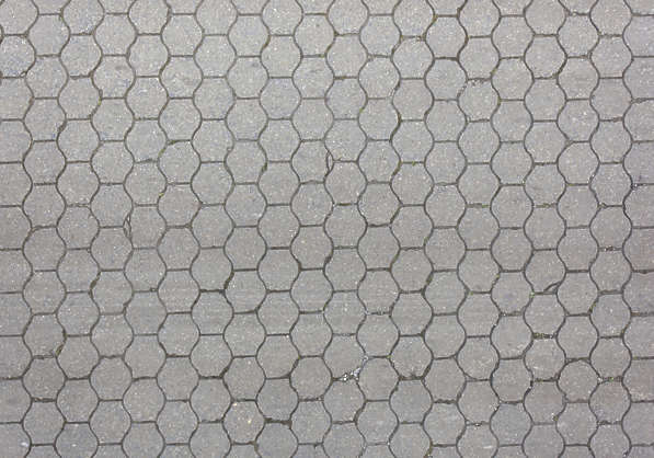 brick floor street tiles hexagon round