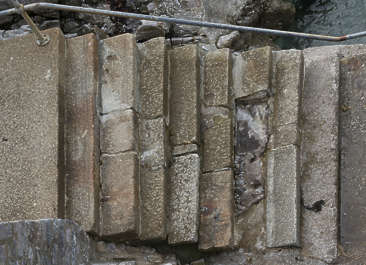 concrete old stairs damaged UK